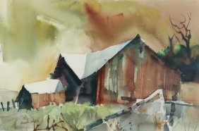 Pair of Frank Webb original watercolors