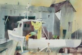 Frank Webb Boatyard watercolors
