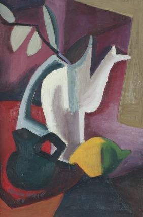 Mina Weil 1958 Cubist Still Life