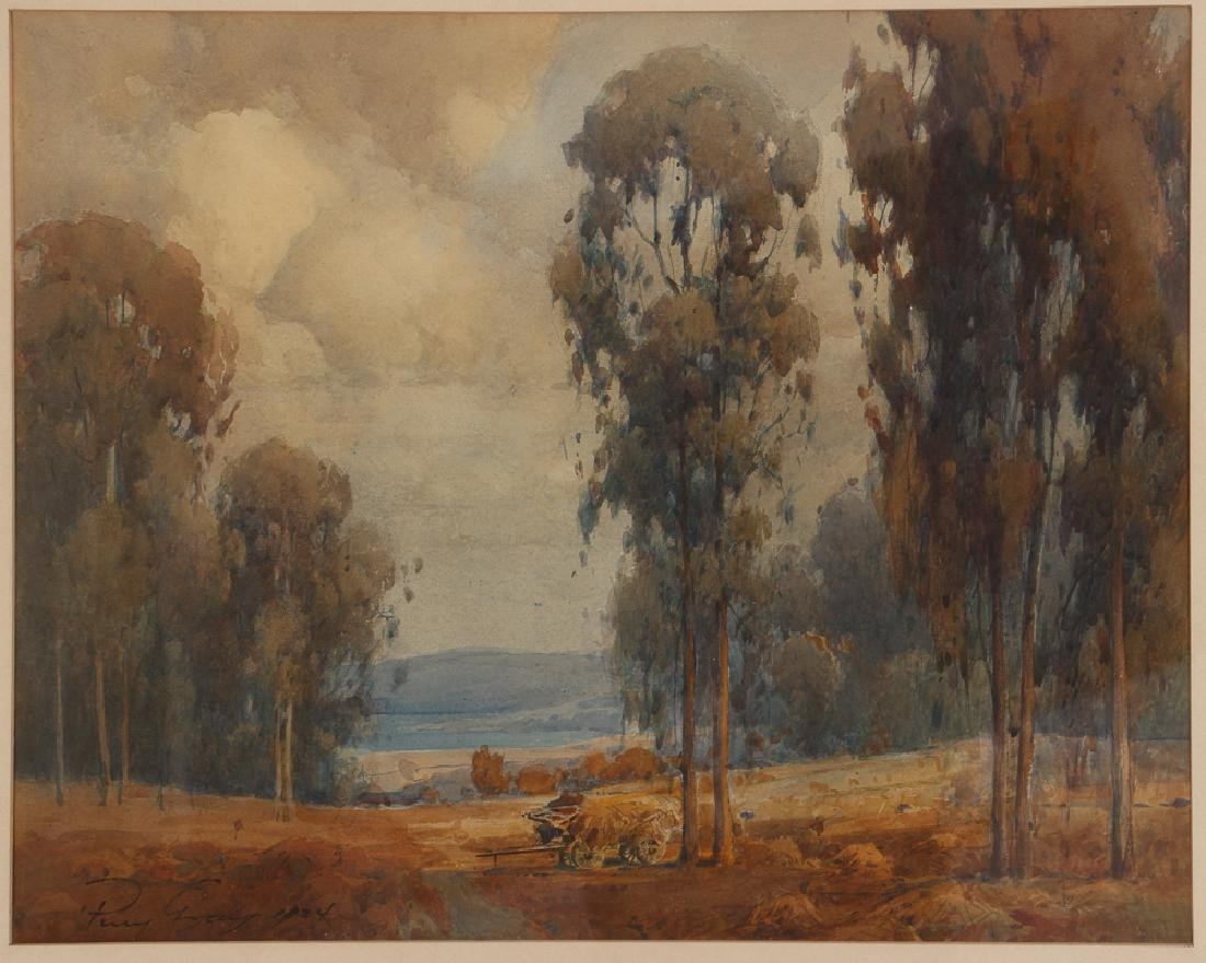 Percy Gray watercolor Eucalyptus in Marin