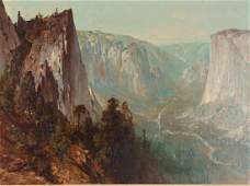 Thomas Hill painting  Scene of Yosemite Valley-El