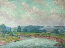 Large Christian Walter Impressionist Landscape
