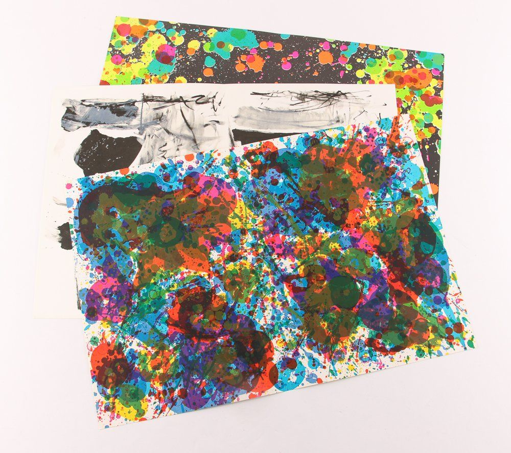 Sam Francis, Ting, Joan Mitchell 3 orig lithos from