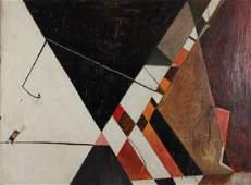 Gertrude Half 1946 Untitled Abstraction on masonite