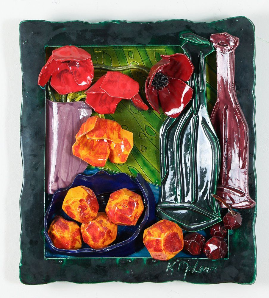 Katherine McClean Still Life Ceramic Wall Relief