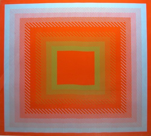 "11: Richard Anuszkiewicz ""Spectral Cadmium Orange"" orig"
