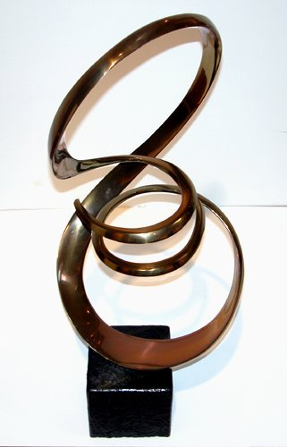 19: Tom Bennet Polished Bronze Sculpture