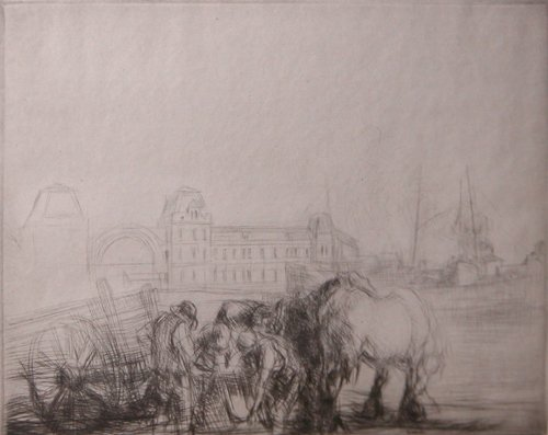 24: Edmund Blampied Etching Ostend