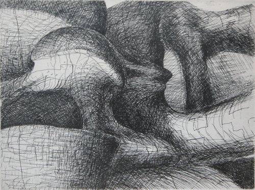 131: 3 Henry Moore Elephant Skull Etchings - 2
