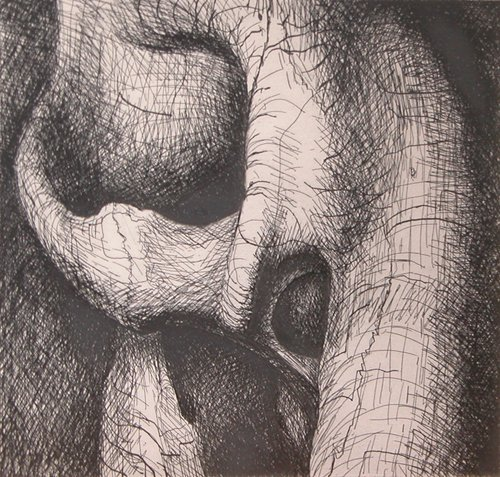 131: 3 Henry Moore Elephant Skull Etchings - 3