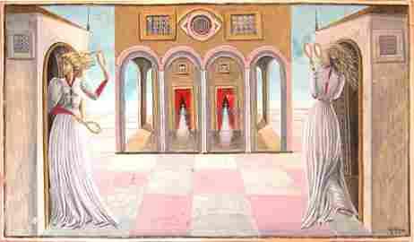 143: Milena Pavlovic-Barili gouache 1939 painting