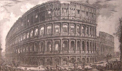 148: Piranesi Rome Coliseum engraving