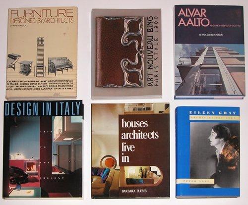 361: 6 Design Books: Italy, Furniture, Bing, Gray, Aalt