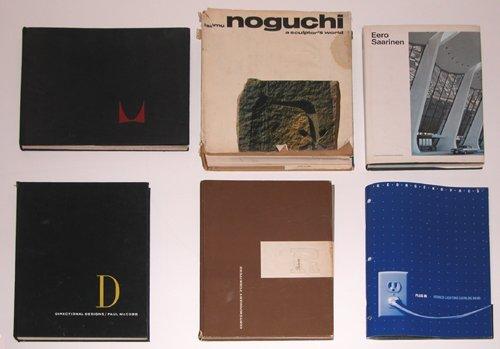 362: 6 Design Books Miller, McCobb, Noguchi, Risom, Saa