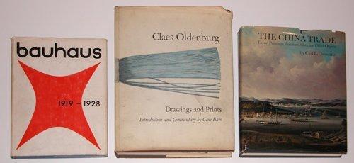363: 3 Design / Art Books Bauhaus, Oldenburg, China Tra
