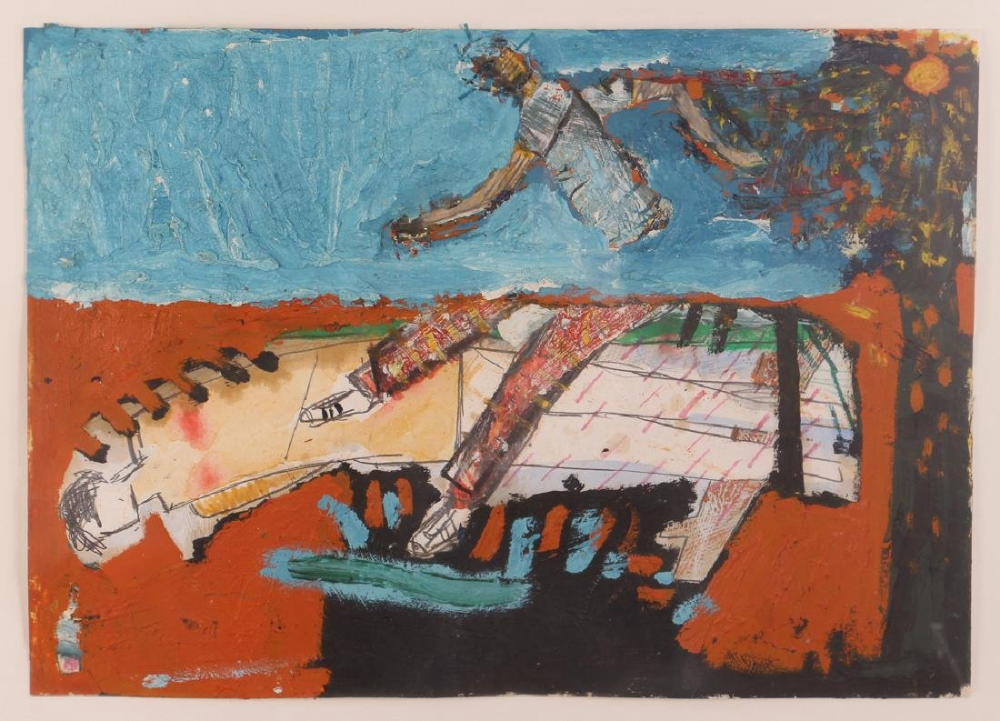Klaus Hoefs Untitled Mixed Media Painting