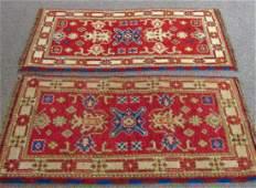 Two Indo Caucasian Kazak Carpets