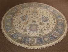 Indo Turkish Oushak Oval Carpet