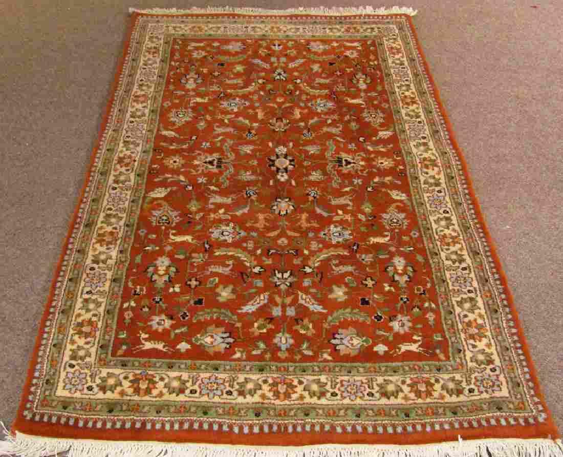 Indo Persian Tabriz Pictorial Carpet