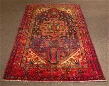 Semi Antique Persian Zanjan Carpet