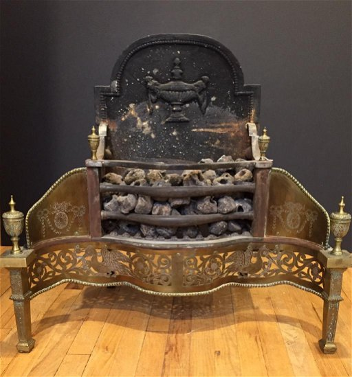 Excellent Antique Brass Fireplace Insert Download Free Architecture Designs Pushbritishbridgeorg