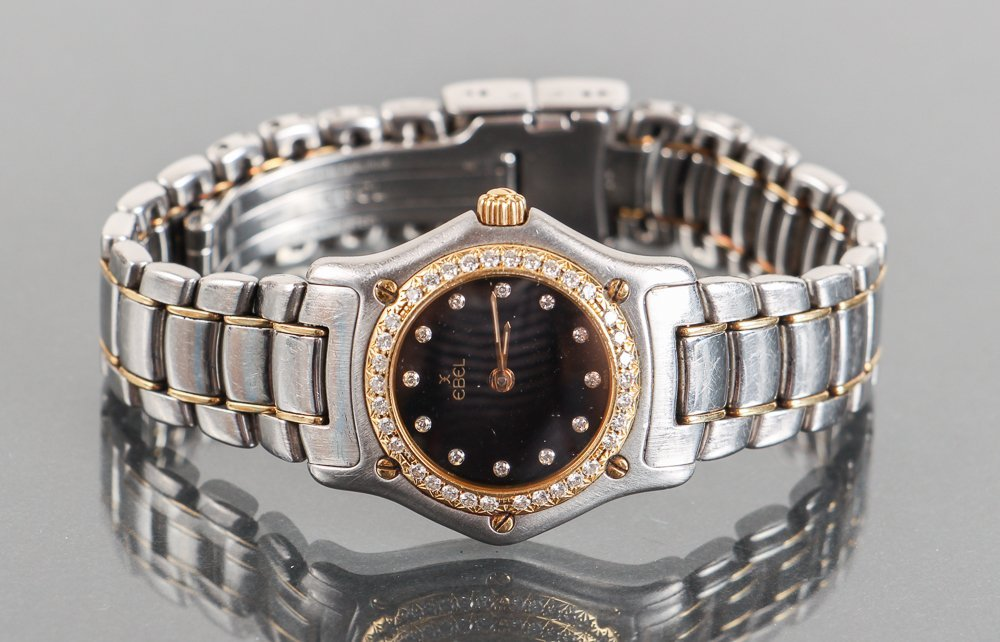 Women's Ebel Stainless Steel, 18K Gold and Diamond