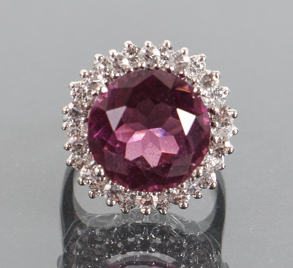 Ladies Sterling and Amethyst Cocktail Ring