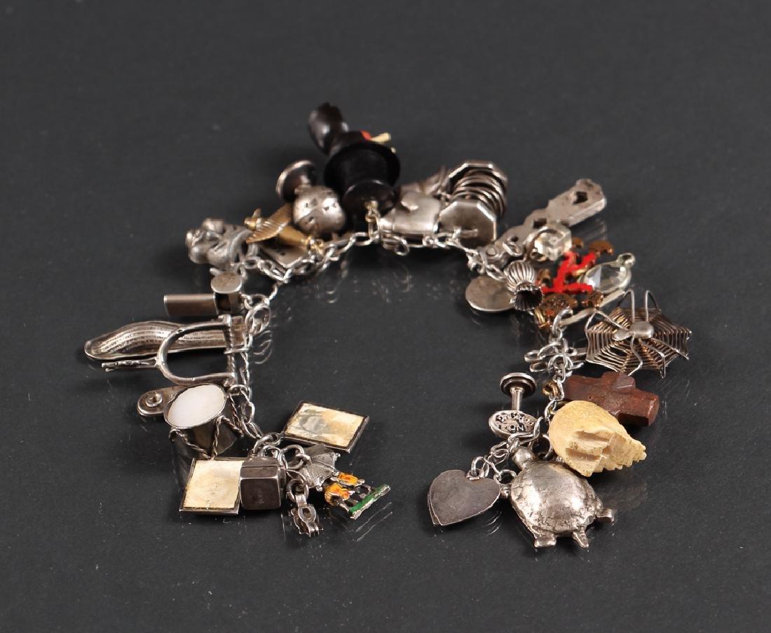 Ladies Sterling Silver Charm Bracelet