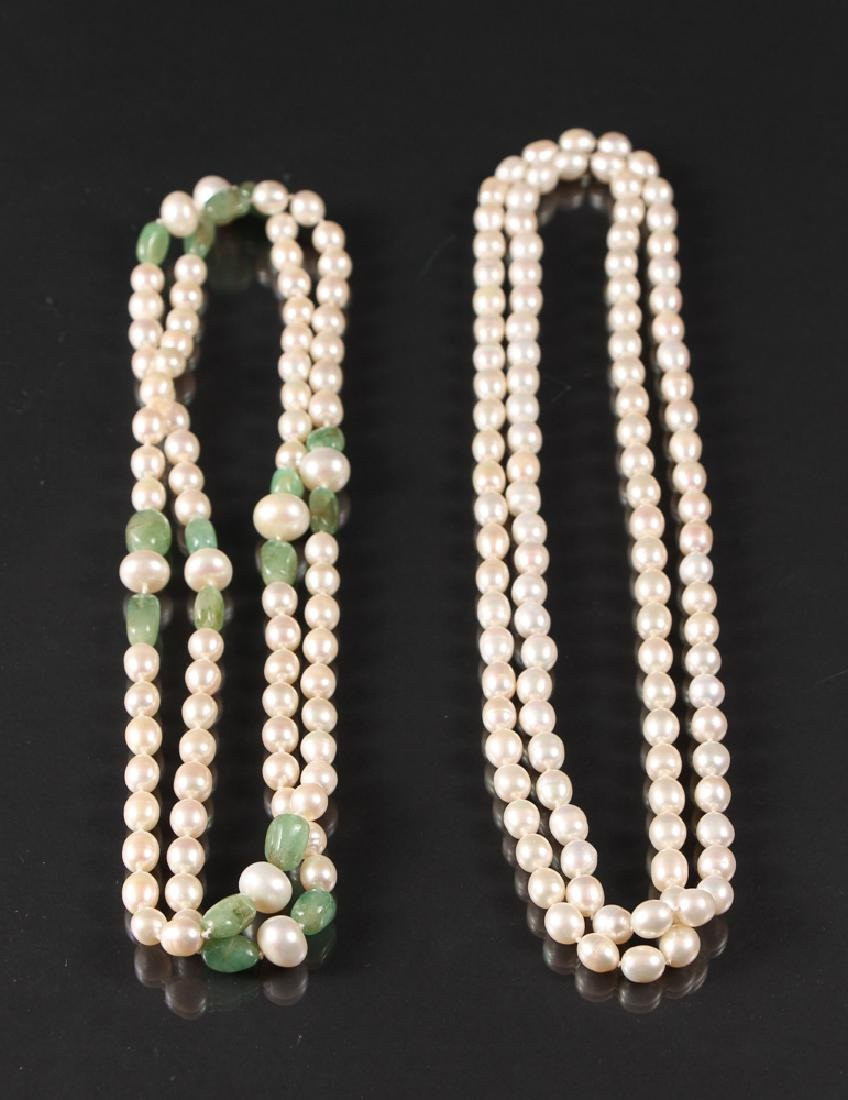 Two Freshwater Pearl Strands