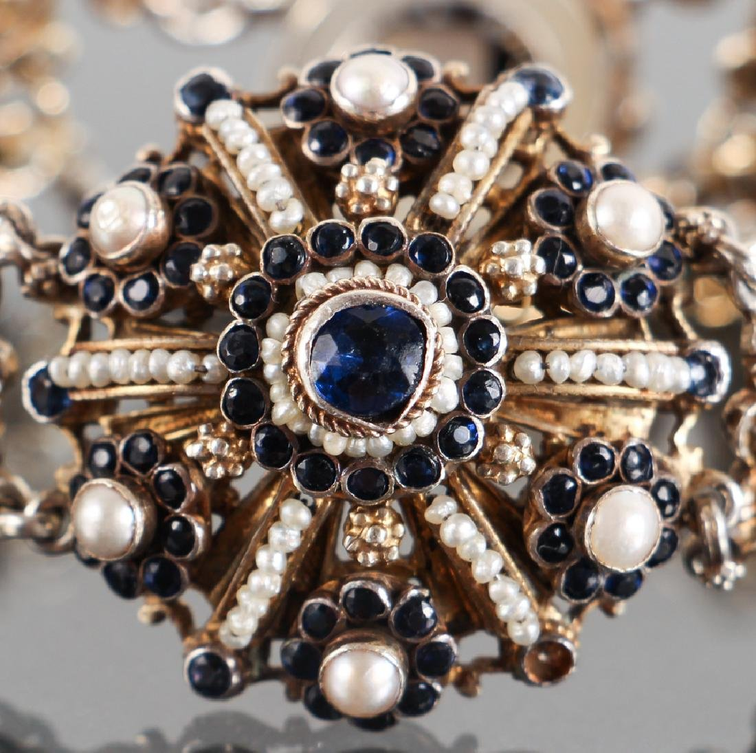 Austro Hungarian Sapphire and Pearl Bracelet - 2