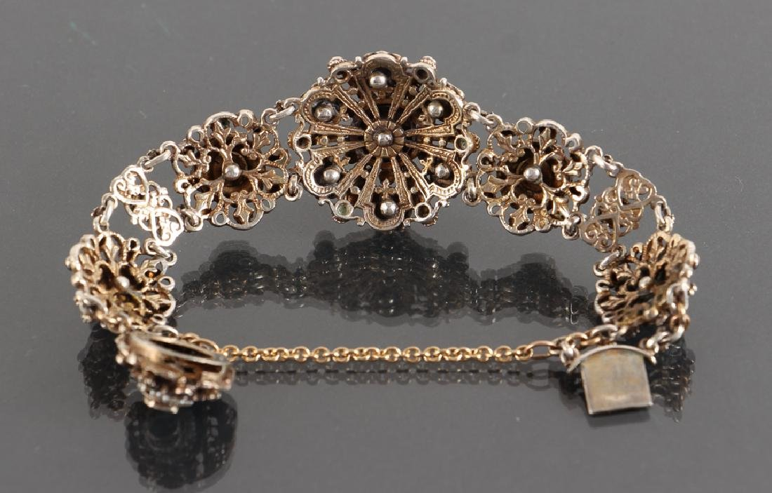 Austro Hungarian Sapphire and Pearl Bracelet - 7