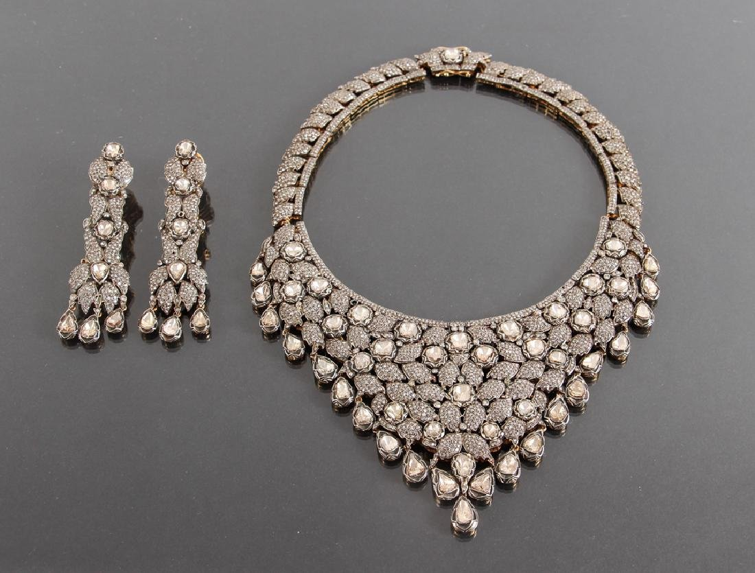 Indian Diamond Marriage Necklace and Earrings