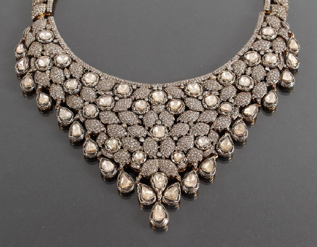 Indian Diamond Marriage Necklace and Earrings - 2