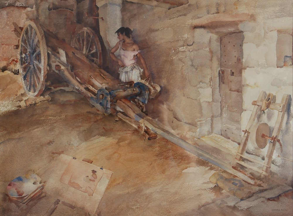 William Russell Flint wc Ambrosine Model and Critic