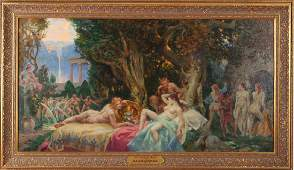 Malcolm Parcell The Couch of Venus Oil Painting