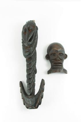 Chokwe Face Mask With Borneo Head Hanger