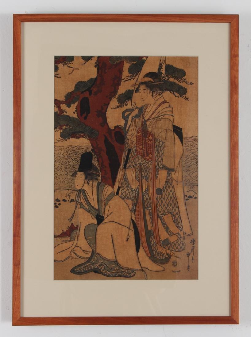 3 Vintage Japanese color woodblock prints - 7