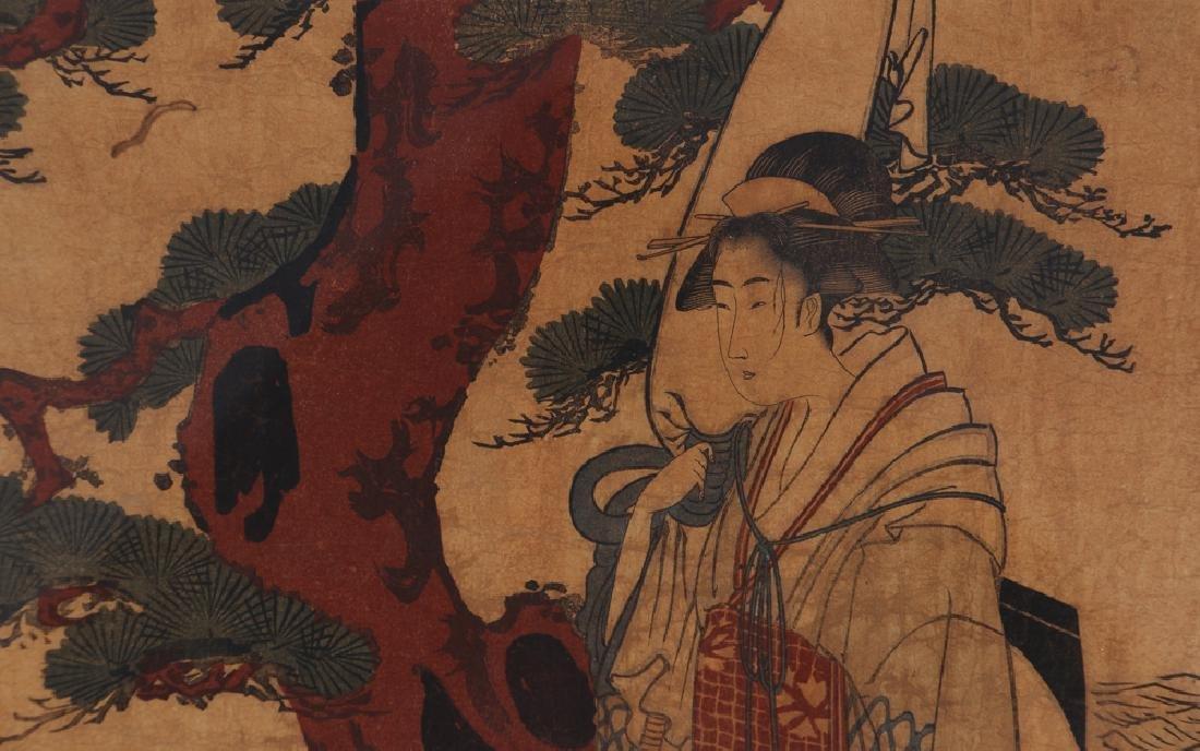 3 Vintage Japanese color woodblock prints - 9