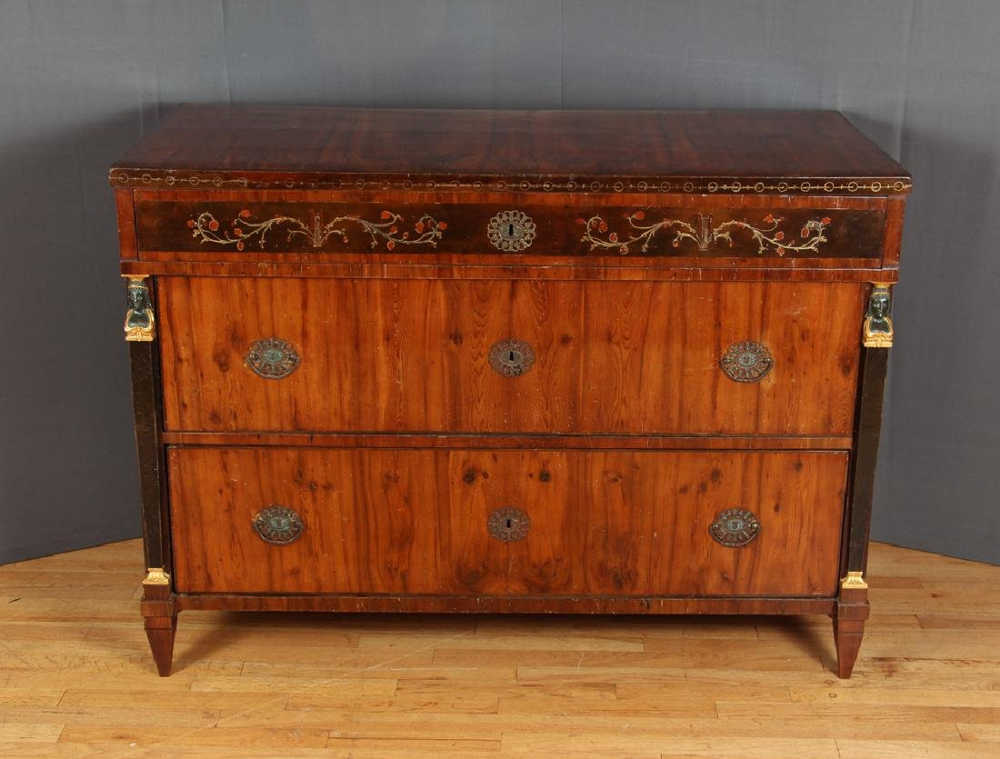 Biedermeier Chest with Egyptian Revival Accents