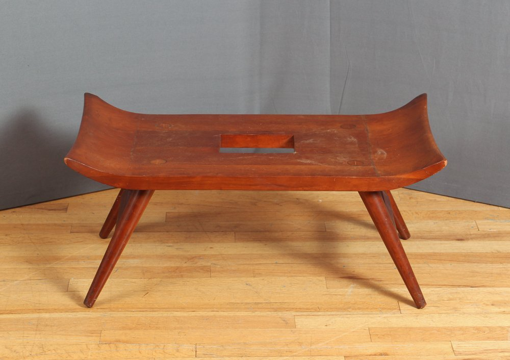 20th Century Japanese Wood Bench