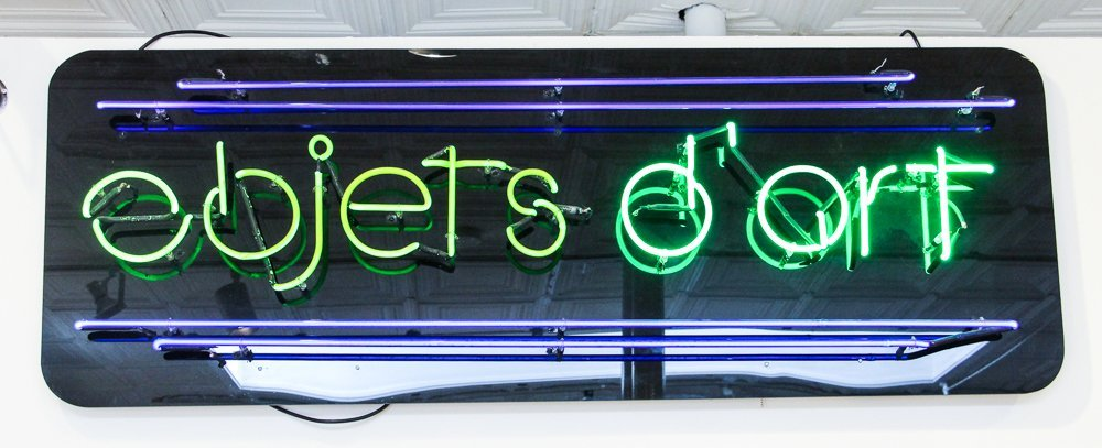 Object's d'Art Neon Advertising Sign