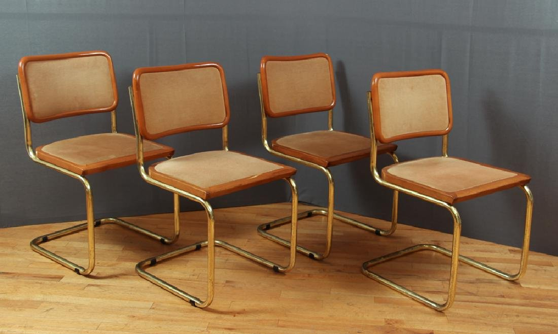 Four Italian Breuer Style Dining Chairs
