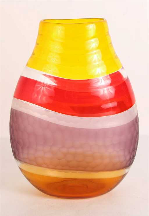 Adriano Della Valentina Murano Glass Vase With Batutto
