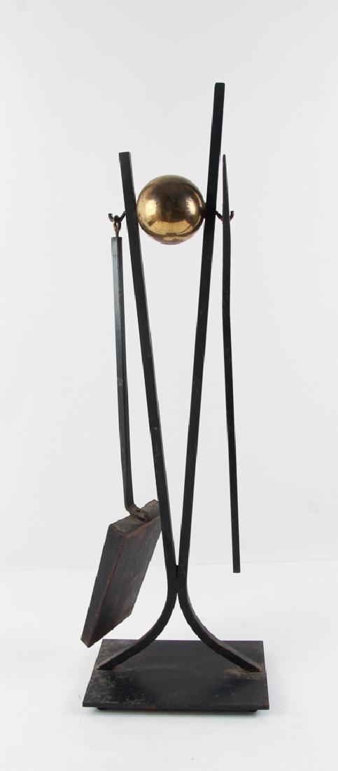 Donald Deskey Andirons and Fireplace Tools - 6