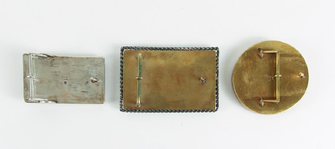 Three James Frappe Belt Buckles - 2