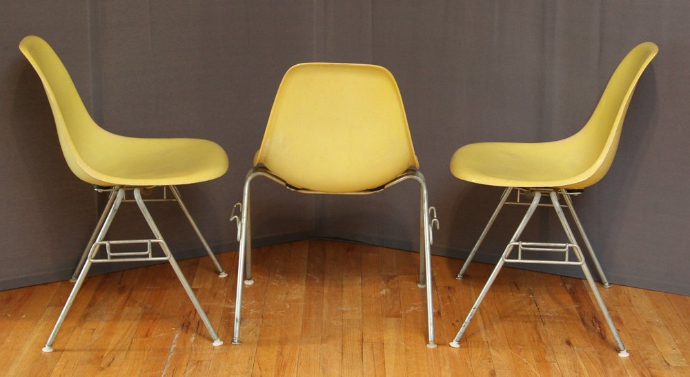 Six Herman Miller Mid Century Eames Shell Chairs - 2