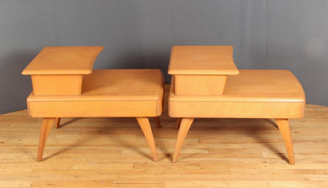 Heywood Wakefield Pair of Step End Tables - 2