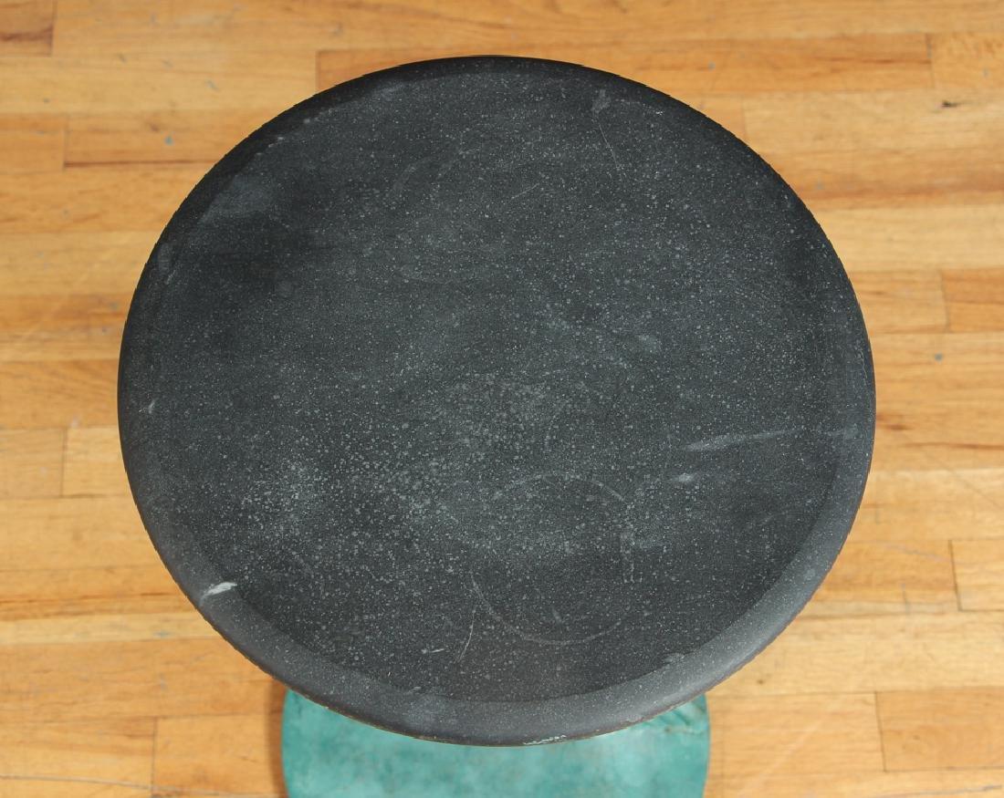 Curtis Jere Brutalist Patinated Steel Side Table - 5