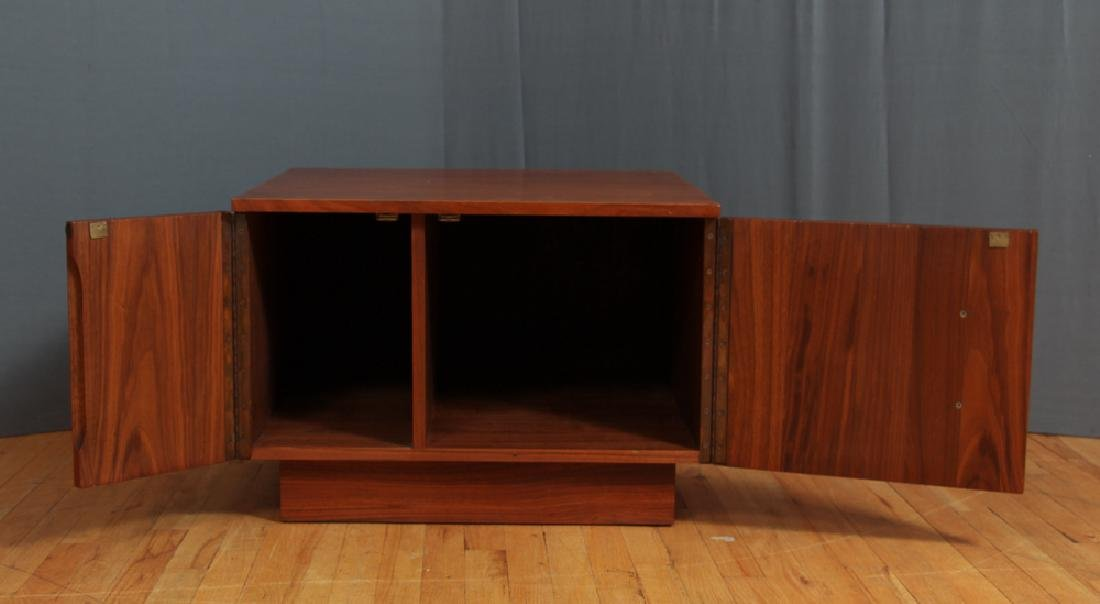 Brown Saltman Brutalist Side Table - 4