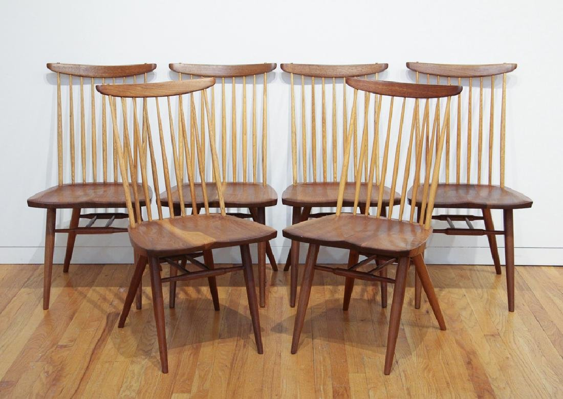 George Nakashima 6 New Dining Chairs